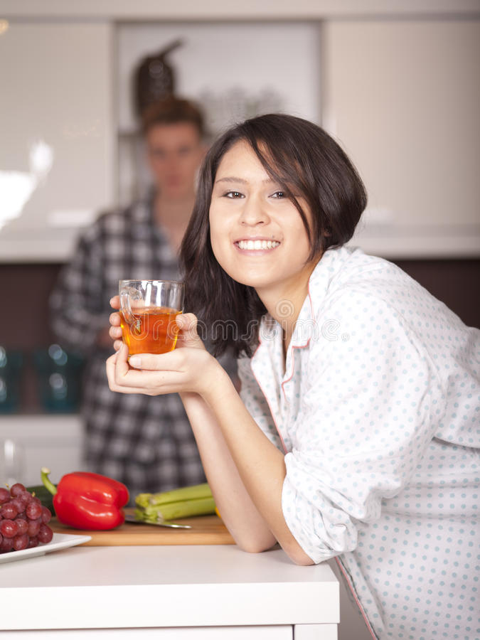 Download Happy Couple In The Kitchen Stock Image - Image: 23268029