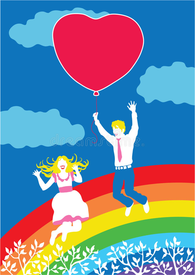 Download Happy couple in love stock vector. Illustration of background - 7338842
