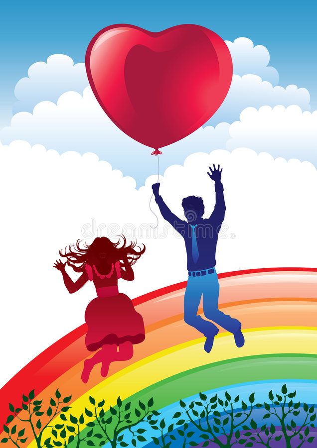 Download Happy couple in love stock vector. Image of colored, girl - 8272190