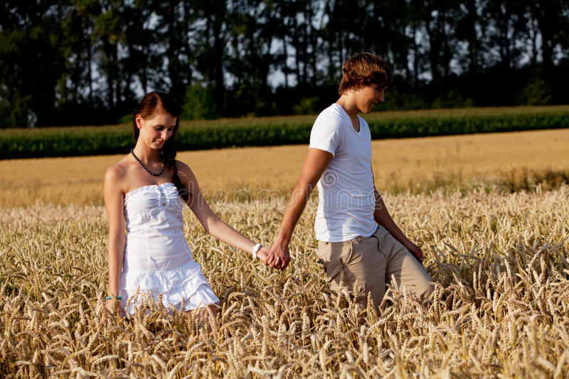Download Happy Couple In Love Outdoor In Summer On Field Stock Photo - Image: 26062900