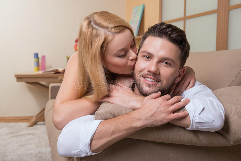 Happy couple in love royalty free stock photo