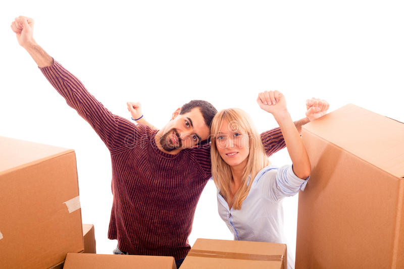 Download Happy Couple on Moving stock photo. Image of contemporary - 17776086
