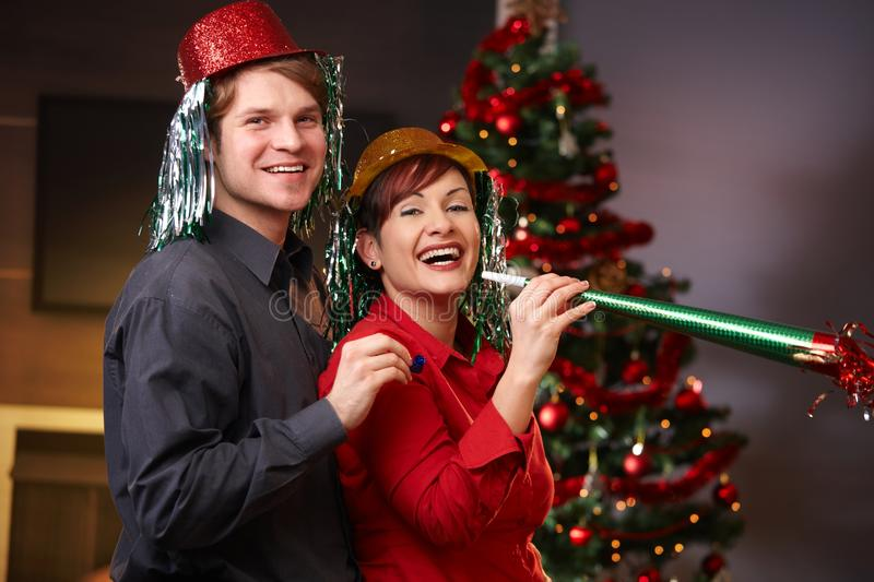 Download Happy Couple On New Year's Eve Stock Photo - Image: 21771918
