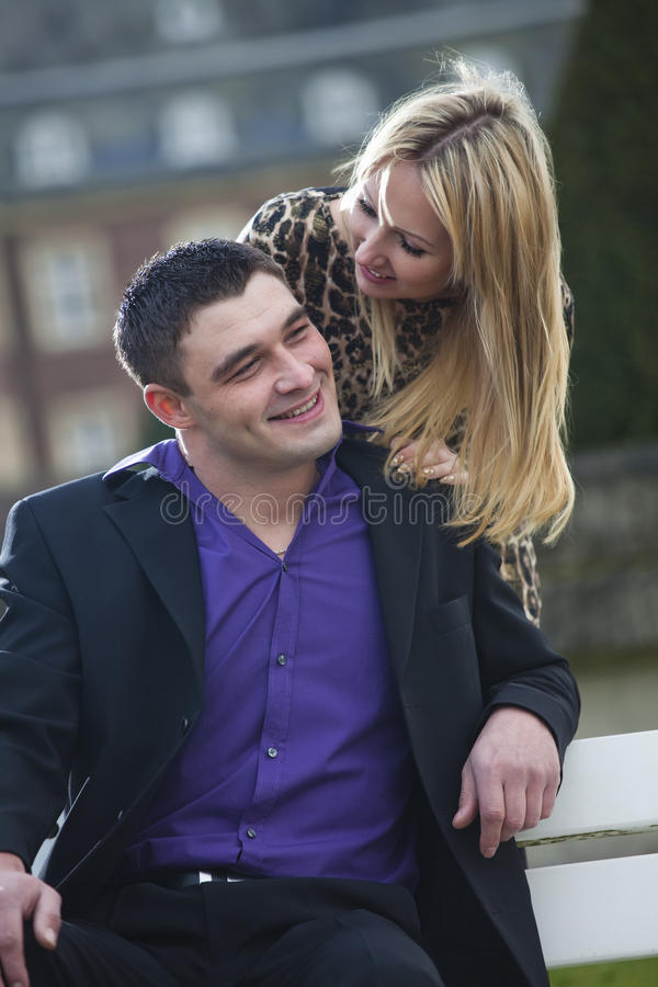 Happy Couple Outdoor Royalty Free Stock Image