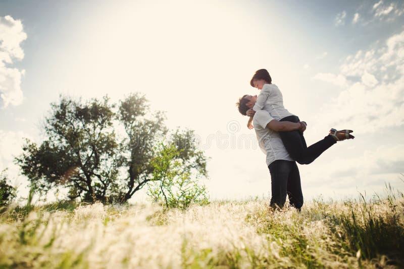 Happy couple outdoor royalty free stock photo