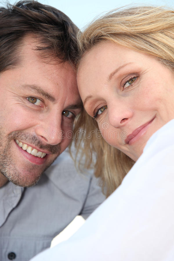 Happy Couple Outdoors Stock Image