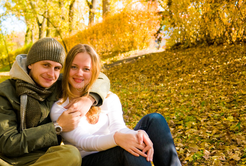 Download Happy couple outdoors stock photo. Image of female, husband - 6808896