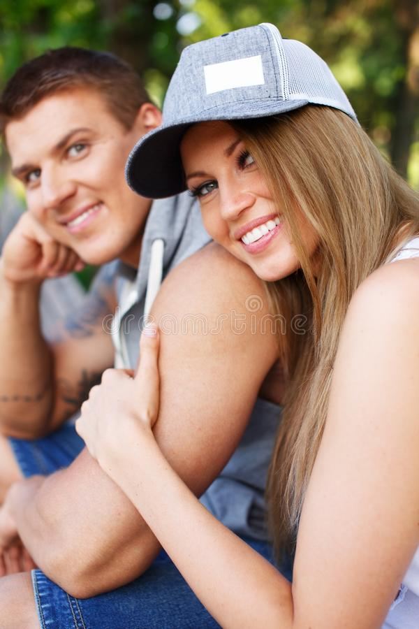Download Happy couple outdoors stock photo. Image of happy, lovers - 34644212