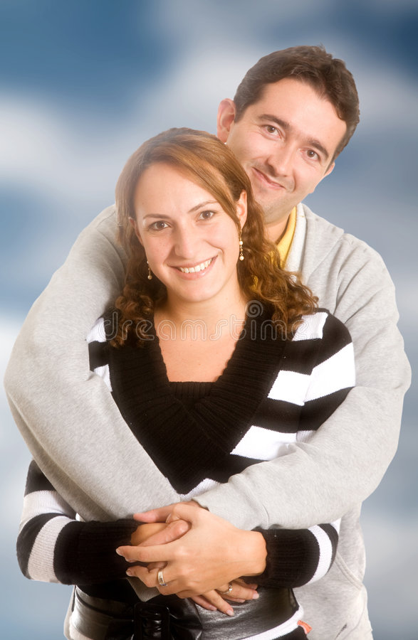 Happy couple portrait