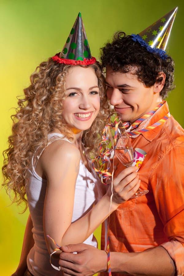 Happy couple portrait royalty free stock images
