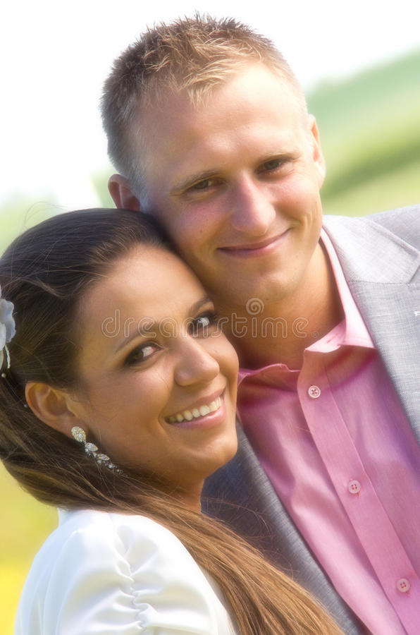 Happy Couple Portrait Royalty Free Stock Photography