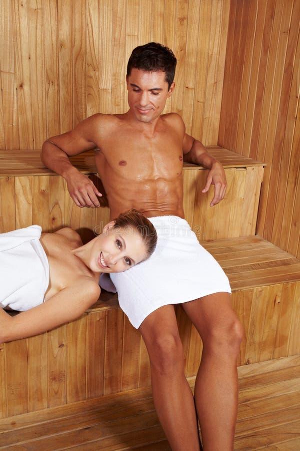 Download Happy couple in sauna stock photo. Image of enjoy, attractive - 24862840