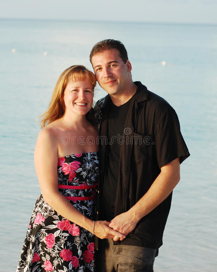 Happy Couple By Sea Stock Images
