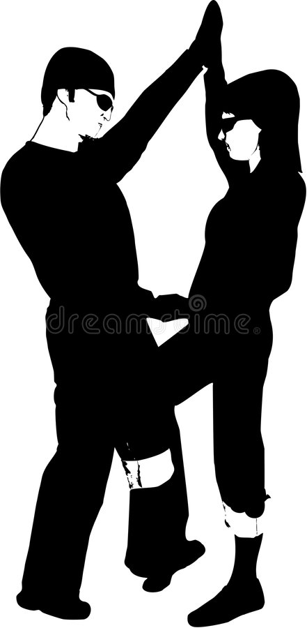 Download Happy Couple Silhouette stock vector. Image of events - 2280641