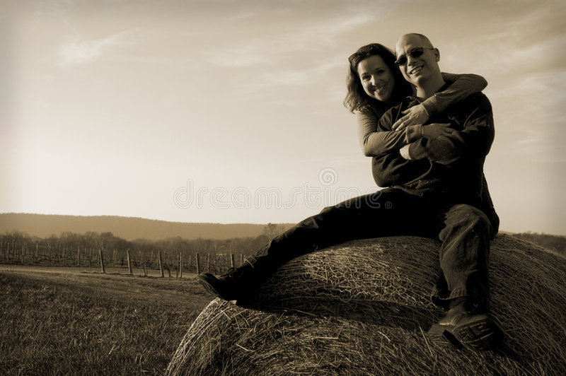 Download Happy couple at sunset stock photo. Image of smile, warm - 2421516