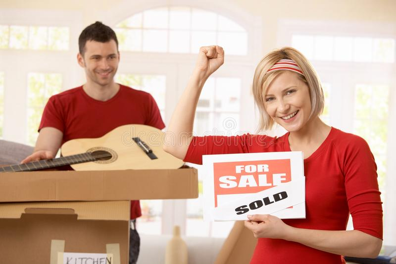 Download Happy Couple In Their New Home Stock Photo - Image: 17724664