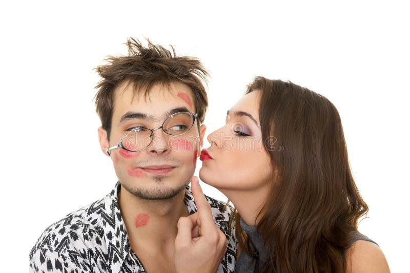 Happy couple in a Valentine's Day stock photo