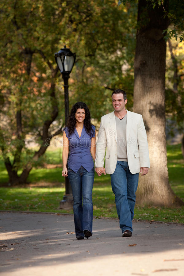 Happy Couple Walk royalty free stock photos
