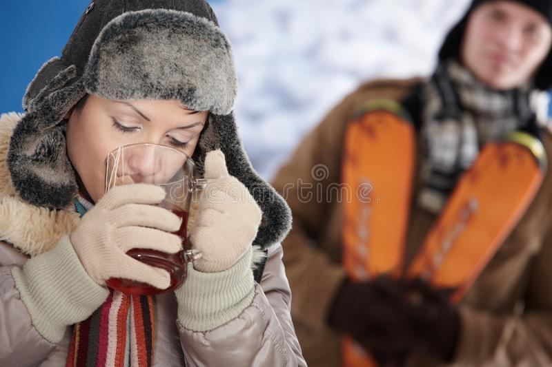 Download Happy couple at winter stock photo. Image of coat, december - 11579010