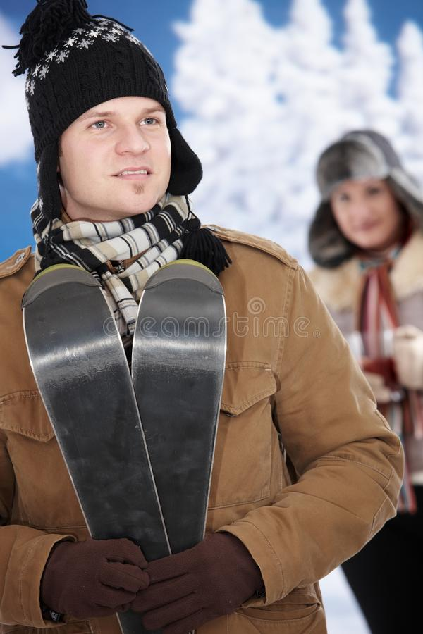 Download Happy couple at winter stock photo. Image of attractive - 11579042