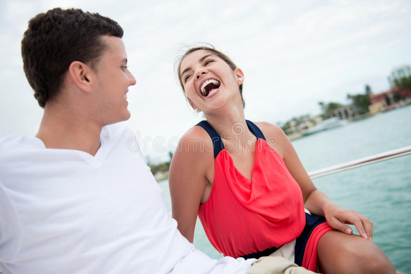Download Happy couple on a yacht stock photo. Image of boat, people - 30555498
