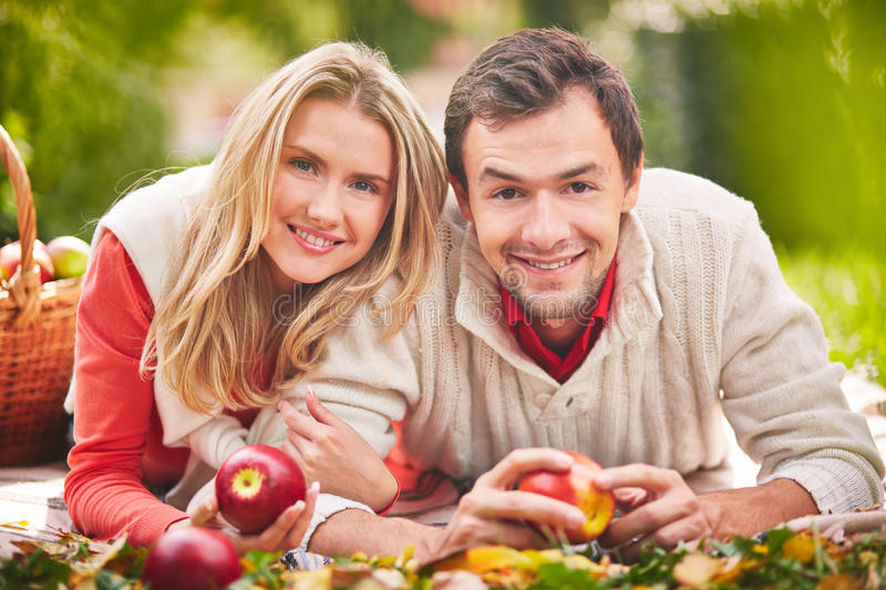 Download Happy couple stock image. Image of adult, apple, outdoor - 34414643