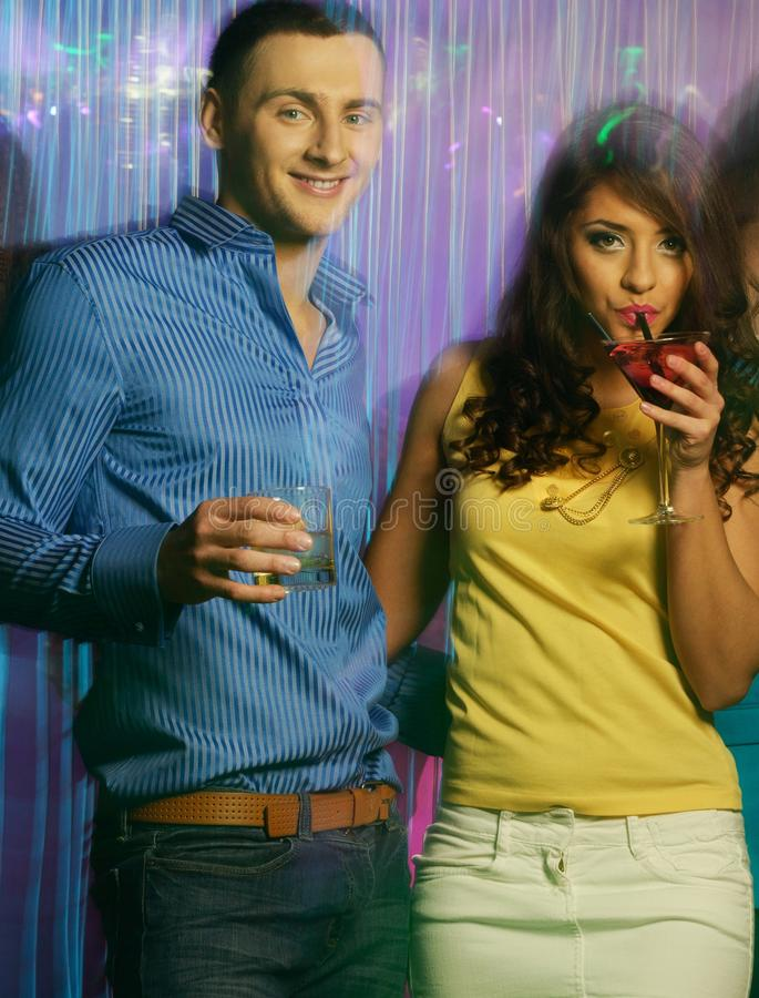 Download Happy Couples At Night Club Stock Photo - Image: 39244801
