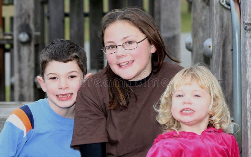 Happy Cousins 2 royalty free stock photo