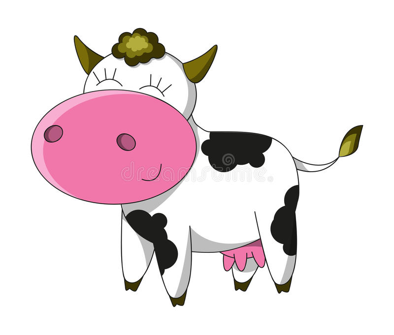 Download Happy cow stock vector. Illustration of mascot, design - 26461198