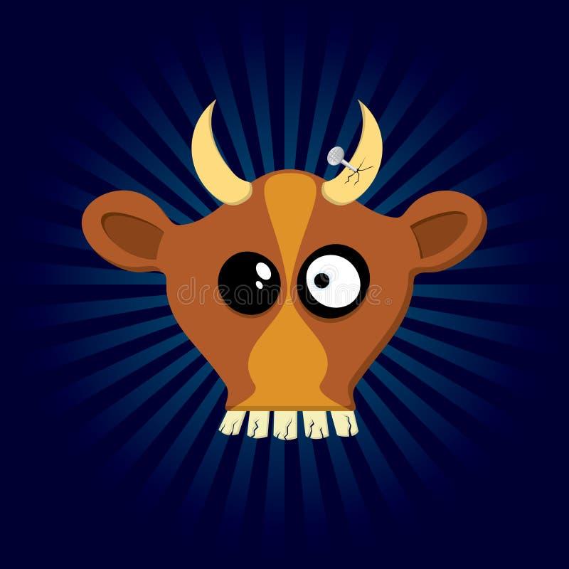 Happy Cow Royalty Free Stock Photo