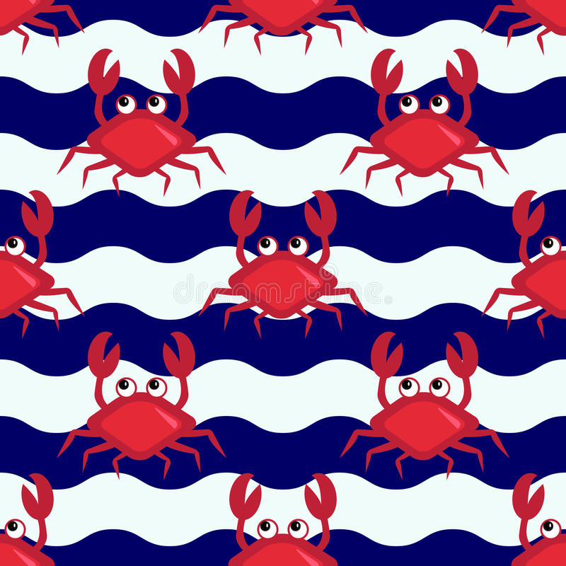 Happy crabs stock image