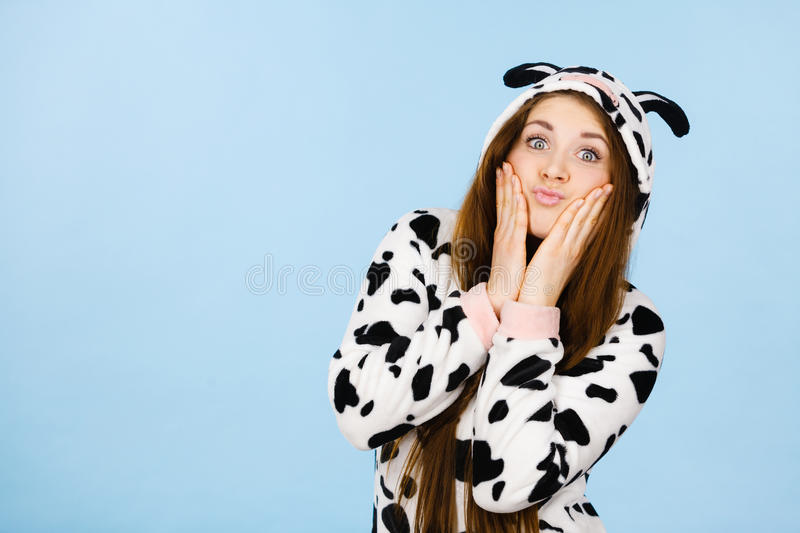 Download Happy Crazy Woman In Cow Costume Stock Image - Image of mammal costumes  sc 1 st  Dreamstime.com & Happy Crazy Woman In Cow Costume Stock Image - Image of mammal ...