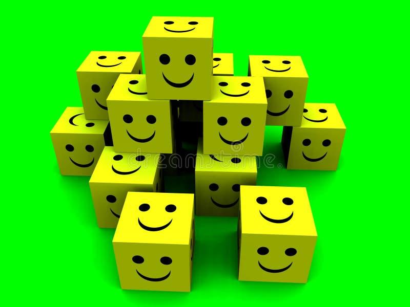 Happy Cubes 4 Stock Photo