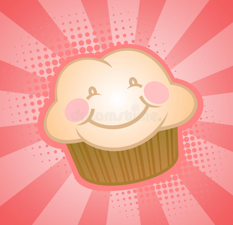 Download Happy Cupcake stock vector. Illustration of bright, smiling - 17705707