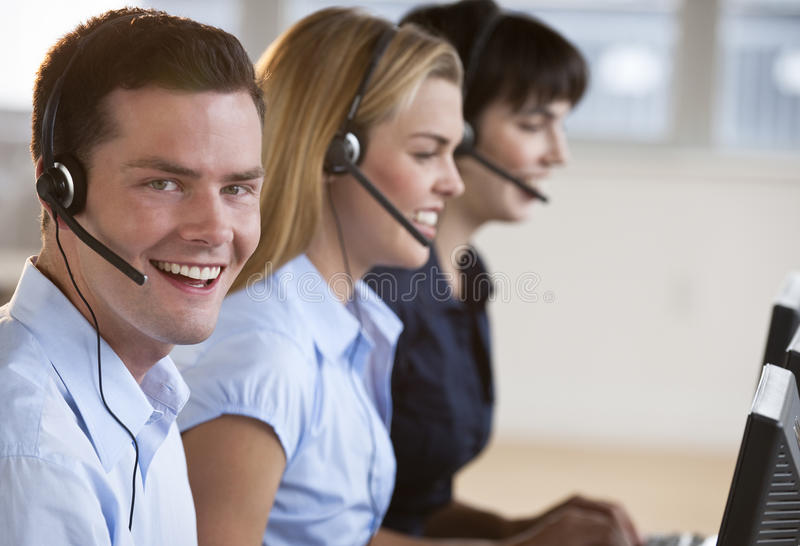 Download Happy Customer Service Reps Stock Image - Image: 10545577