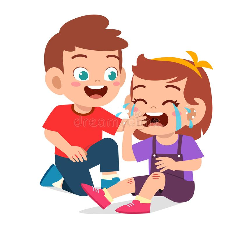 Free Happy Cute Kid Boy Comfort Crying Friend Royalty Free Stock Image - 167743376
