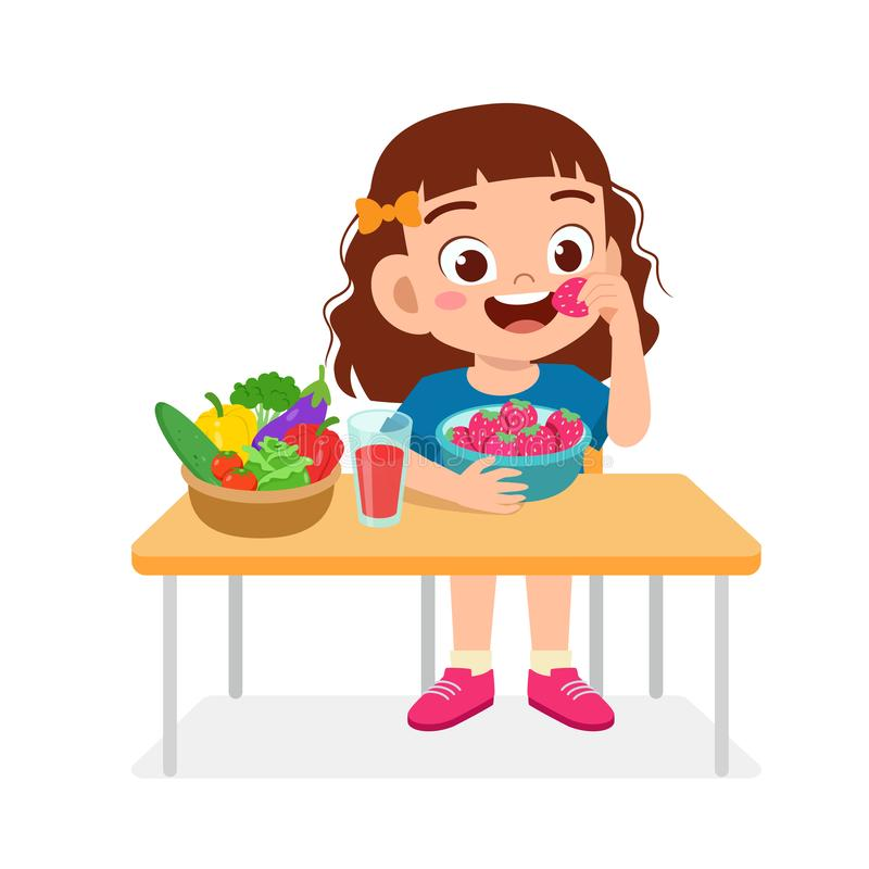 Kid Girl Eating Healthy Vegetables Stock Illustrations 186 Kid Girl Eating Healthy Vegetables Stock Illustrations Vectors Clipart Dreamstime