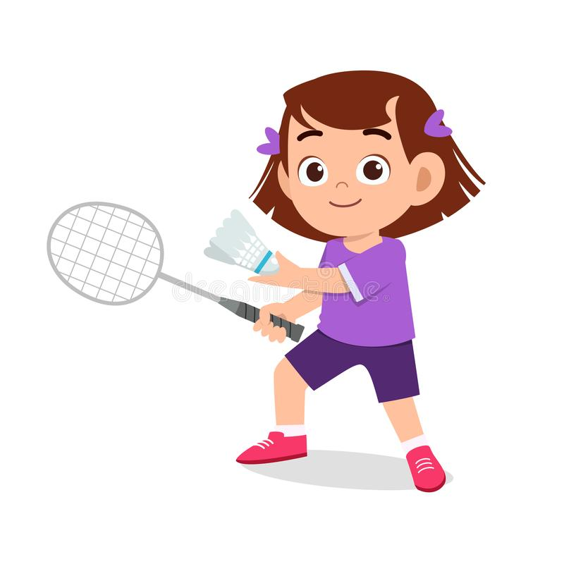 Badminton Illustration / How To Draw Kids Playing ...