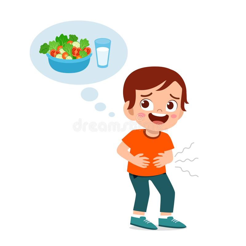 Free Happy Cute Kid Hungry Want To Eat Royalty Free Stock Images - 164772629