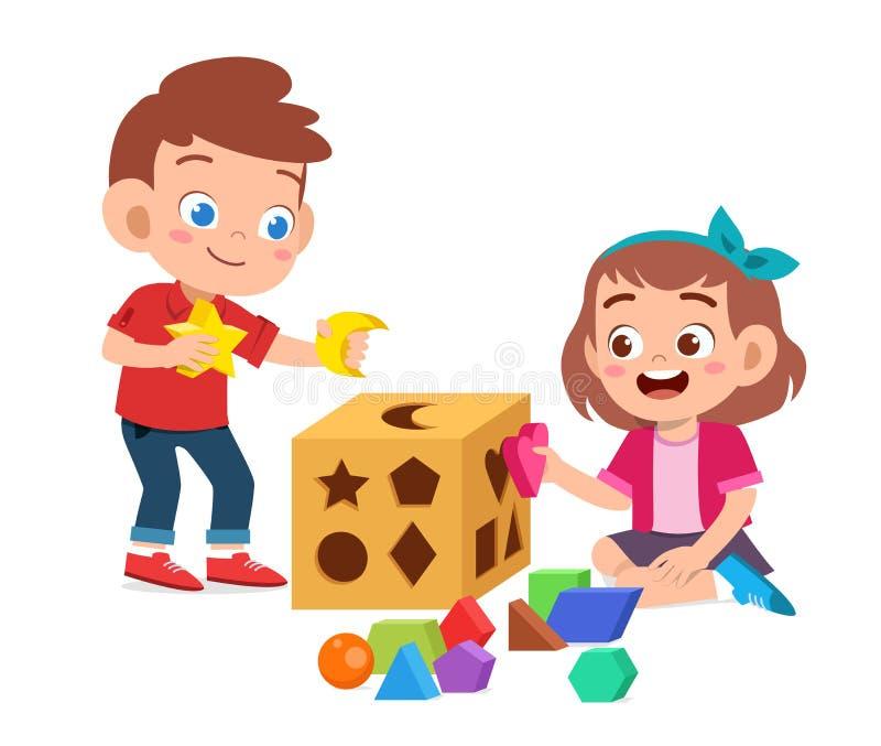 3D happy school kids stock illustration. Illustration of ...