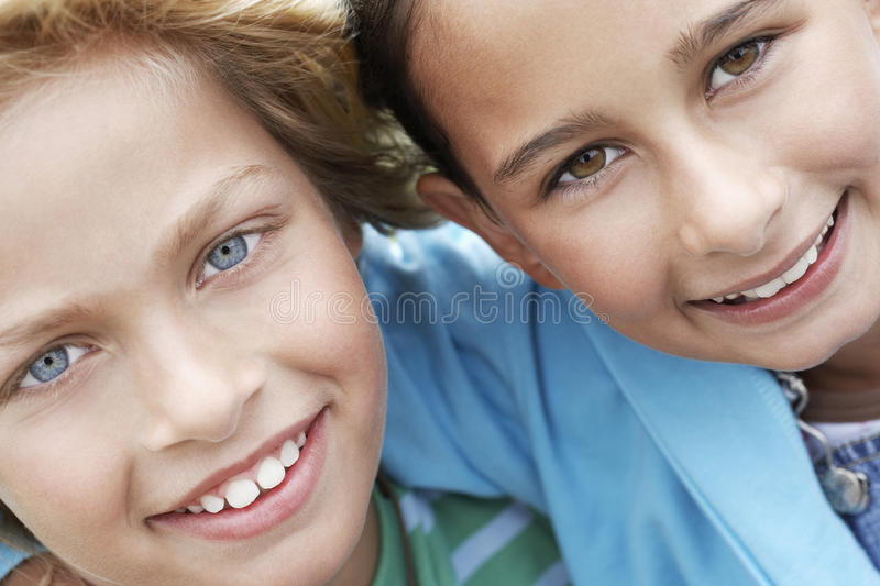 Happy Cute Little Friends royalty free stock photography