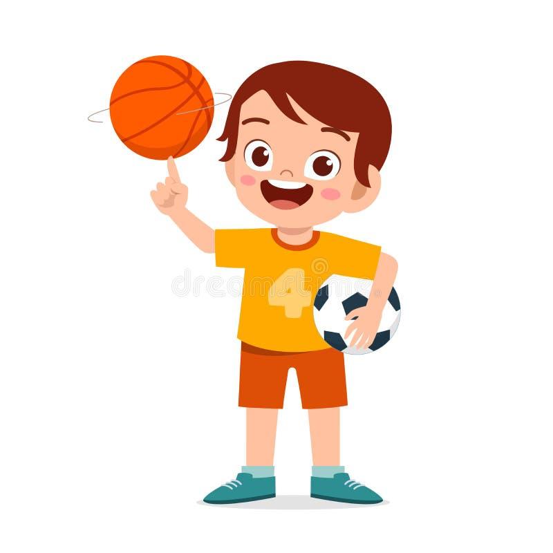 Free Happy Cute Little Kid Boy Play Ball Royalty Free Stock Photos - 172423358