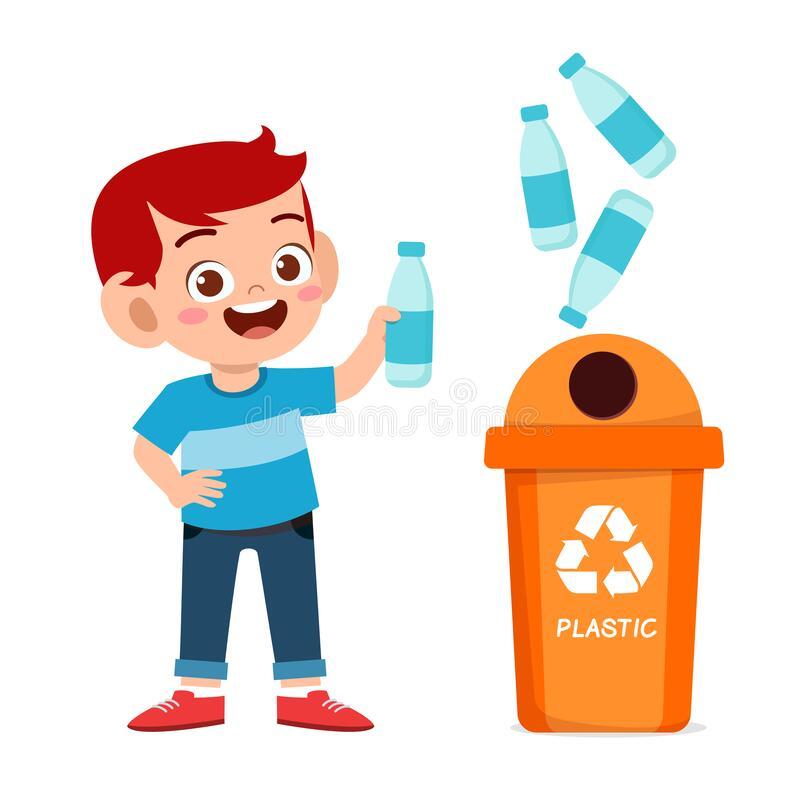 A Happy Cartoon Boy Taking Out The Trash. Royalty Free Cliparts, Vectors,  And Stock Illustration. Image 43363334.