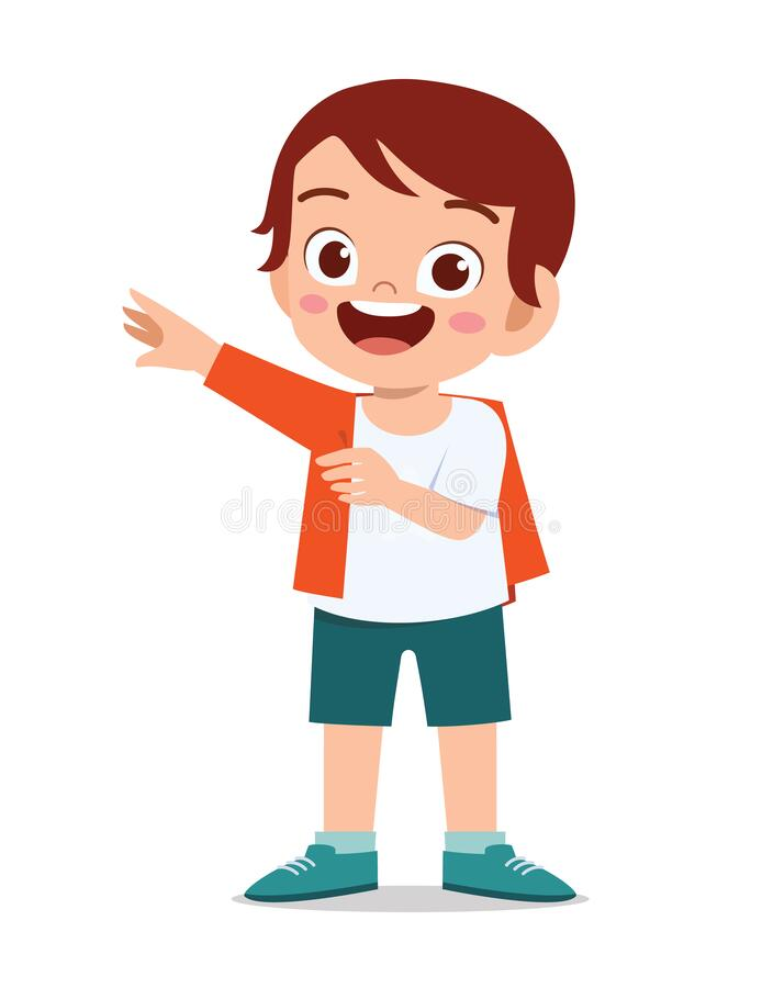 Free Happy Cute Little Kid Boy Wear A Clothes Royalty Free Stock Image - 182899146