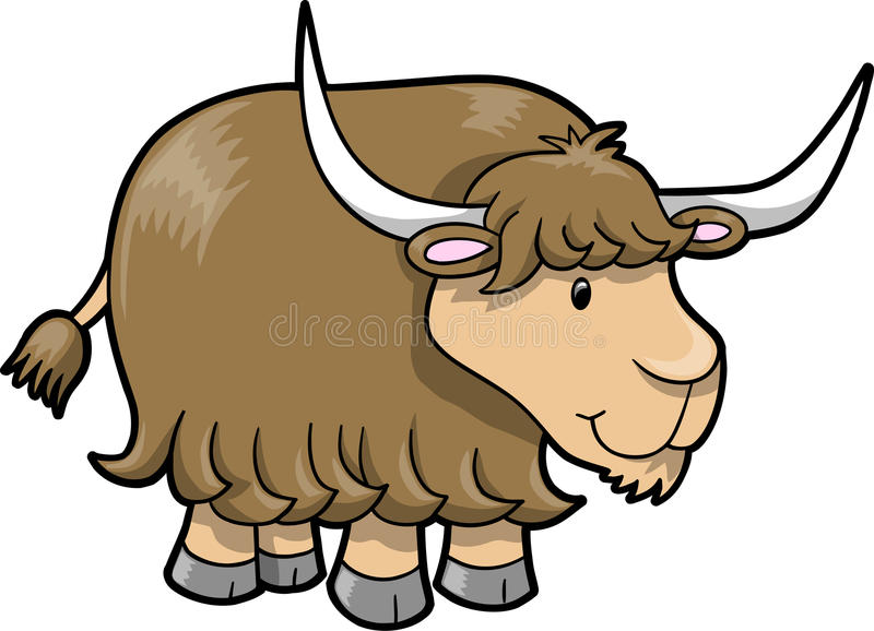 happy cute yak vector stock vector illustration of beef 11485017 rh dreamstime com yak clipart black and white