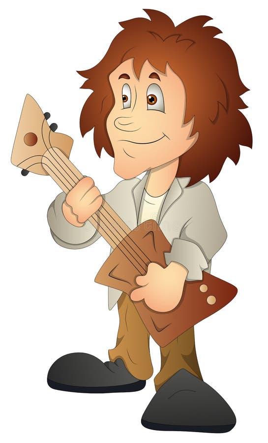 Rockstar Cartoon Character Vector Illustration Stock