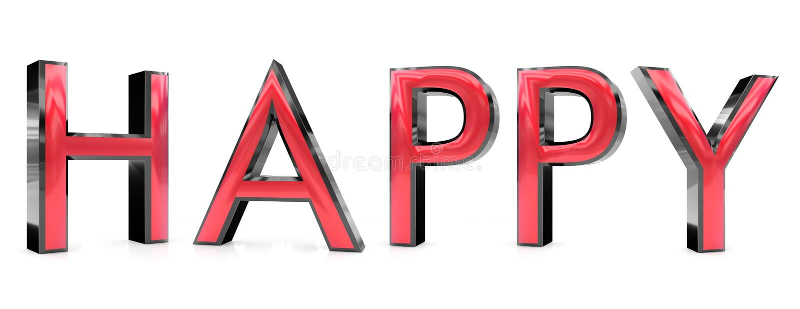 Happy 3d word stock illustration