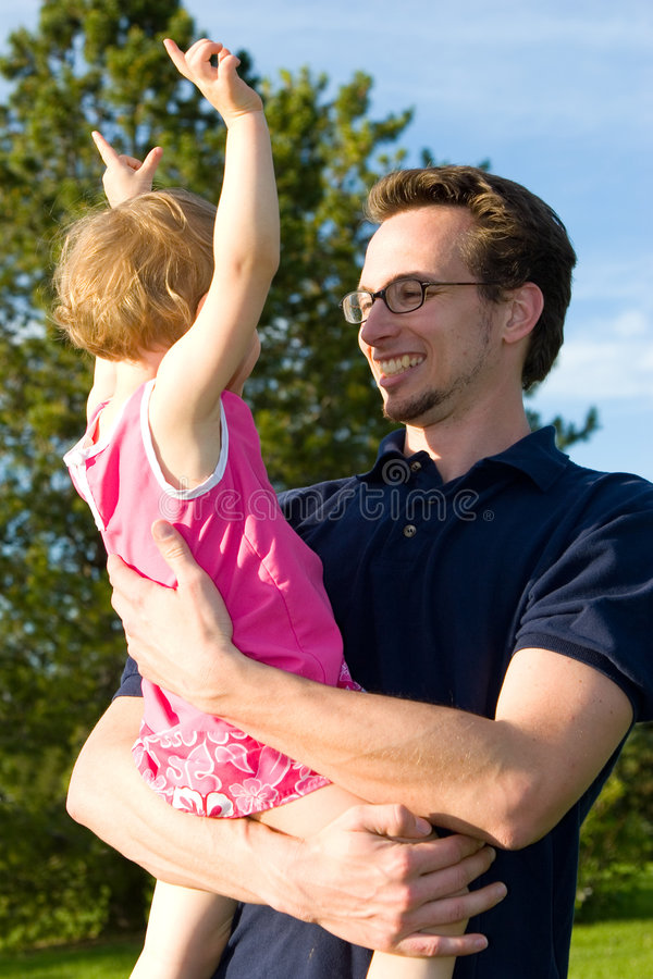 Happy Dad stock photography