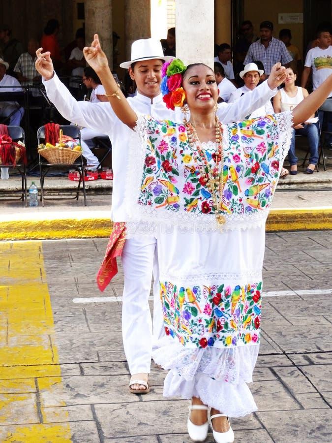 Free Happy Dancing Couple In Merida Yucatan Stock Image - 62526731