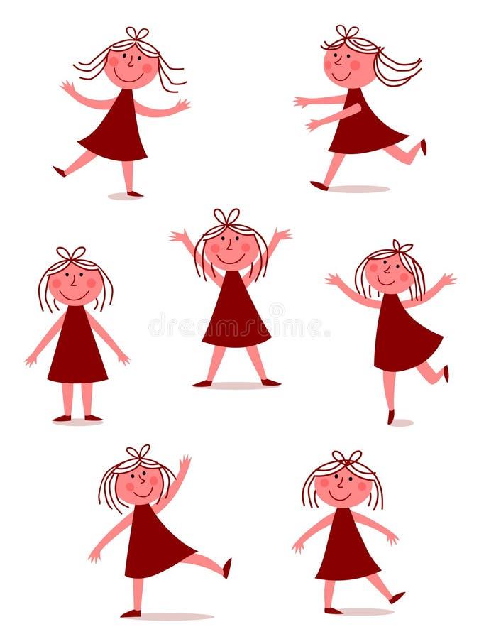 Download Happy, dancing girl stock vector. Illustration of smile - 16278796